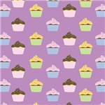 Cupcake Pattern (Purple)