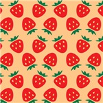Strawberry Pattern (Cream)
