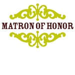 Matron of Honor (Chocolate Brown and Lime)