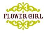 Flower Girl (Chocolate Brown and Lime)