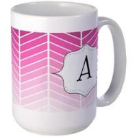 Pink Monogram Mugs