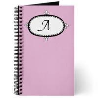 Pink Monogram Journals