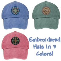 New! Embroidered Hats