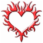 Tribal Heart (Red 3D)