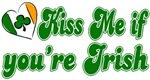 Kiss Me if You're Irish Heart T-Shirts