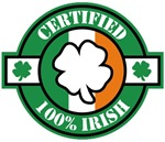 Certified 100% Irish T-Shirts