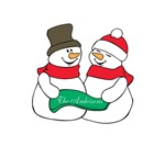Family Christmas Snowman Couple