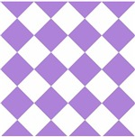 Harlequin Diamond Argyle Pattern Pastel Purple Whi