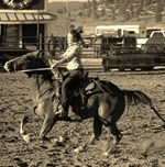 Western Rodeo Barrel Racing