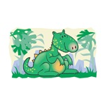 Cute Baby Green Dinosaur