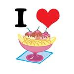 I Heart (Love) Banana Splits