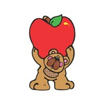 School Days Country Bear with Apple