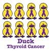 Thyroid Cancer Ribbon Ducks