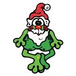 Silly Santa Frog