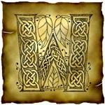 Celtic Knotwork Letter W