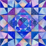Blue Quilt Watercolor