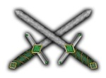 Crossed Celtic Daggers