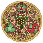 Celtic Reindeer Shield