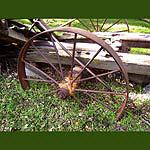 Wheel Stuck In the Ground