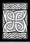 Celtic Knotwork Cloverleaf Illustration