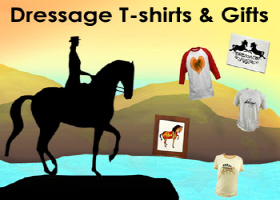 dressage and dressage horses t-shirt and gift shop