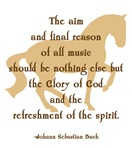 horses, quotes + sayings: Bach 'music...spirit'