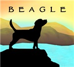 Beagle Dog by the Sea t-shirts & gifts