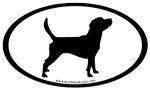 Beagle Dog Breed Bumper Sticker Selections