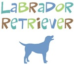 Labrador Retriever (color text)