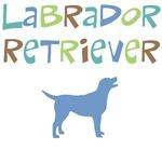 Labrador Retriever (color text)