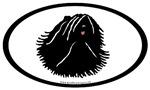 Puli Dog Euro Oval Sticker Selections