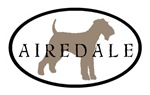 Airedale Terrier Oval #2