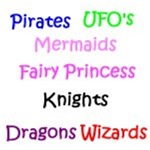 Fairies, Mermaids, Pirates, Wizards, Knights Tees
