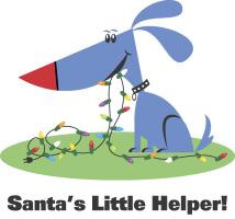 Christmas Santa's Little Helper Dog T-Shirts Gifts