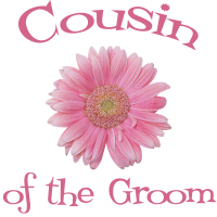Cousin of the Groom Wedding Apparel Daisy Pink