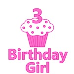 3 Cupcake Birthday Girl