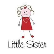little sister shirts stick figure