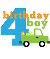 Truck Birthday Boy 4