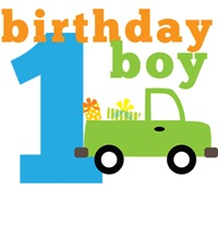 Truck Birthday Boy 1