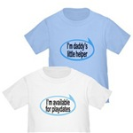 Boy Talk Bubbles Funny Baby/Toddler T-Shirts