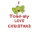 I Toad-aly LOVE Christmas Frog