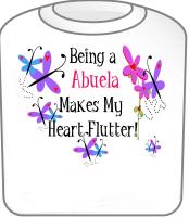 Abuela Heart Flutter T-Shirt