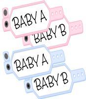 Baby A Baby B Twin Girls Twin Boys T-shirt Design