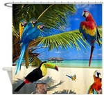 Tropical Birds Shower Curtains