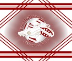 Maroon and White Football Soccer