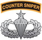 Counter Sniper Tab over Senior Airborne Wings