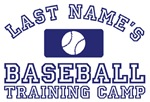 Last Names - Baseball Training Camp