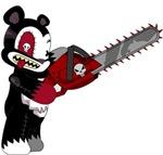 Teddy Bear with chainsaw