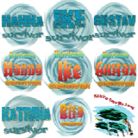 Hurricane's Ike Gustav Hanna and Katrina T-Shirts