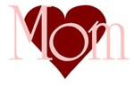 Mom with Red Heart